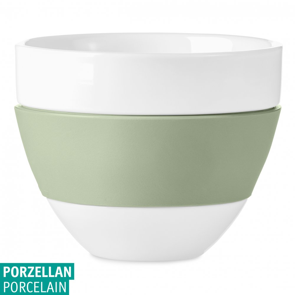 AROMA Milchkaffee-Tasse 300ml cotton white-eucalyptus green