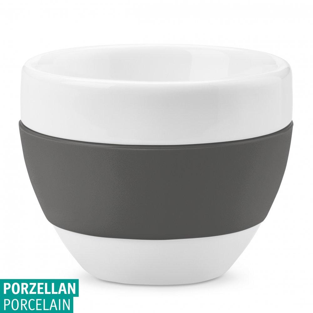 AROMA Cappuccino Cup 100ml cotton white-deep grey