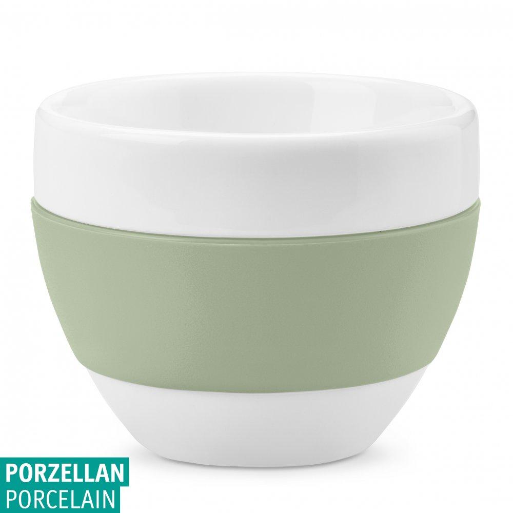 AROMA Cappuccino Cup 100ml cotton white-eucalyptus green