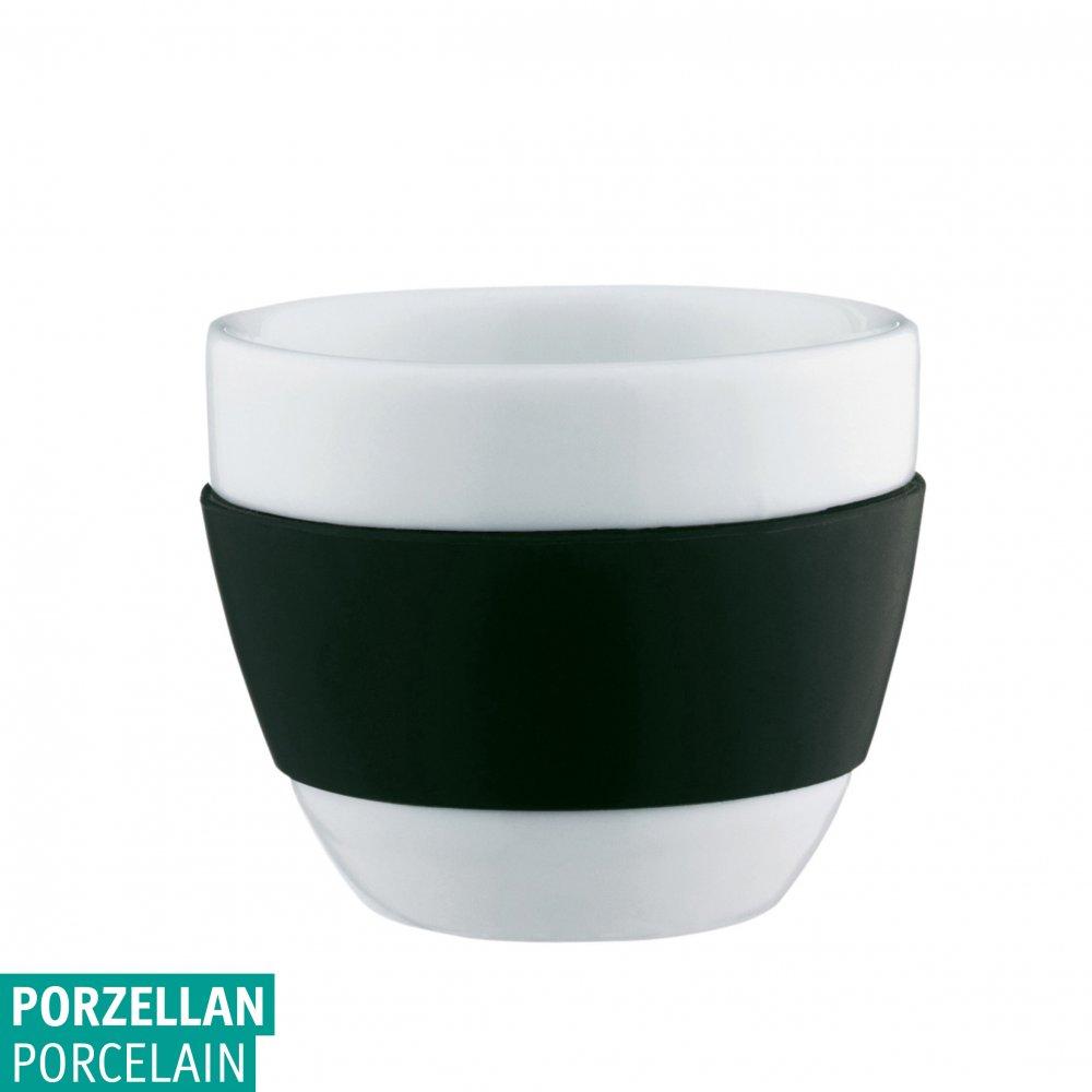 AROMA Cappuccino-Tasse 100ml cosmos black