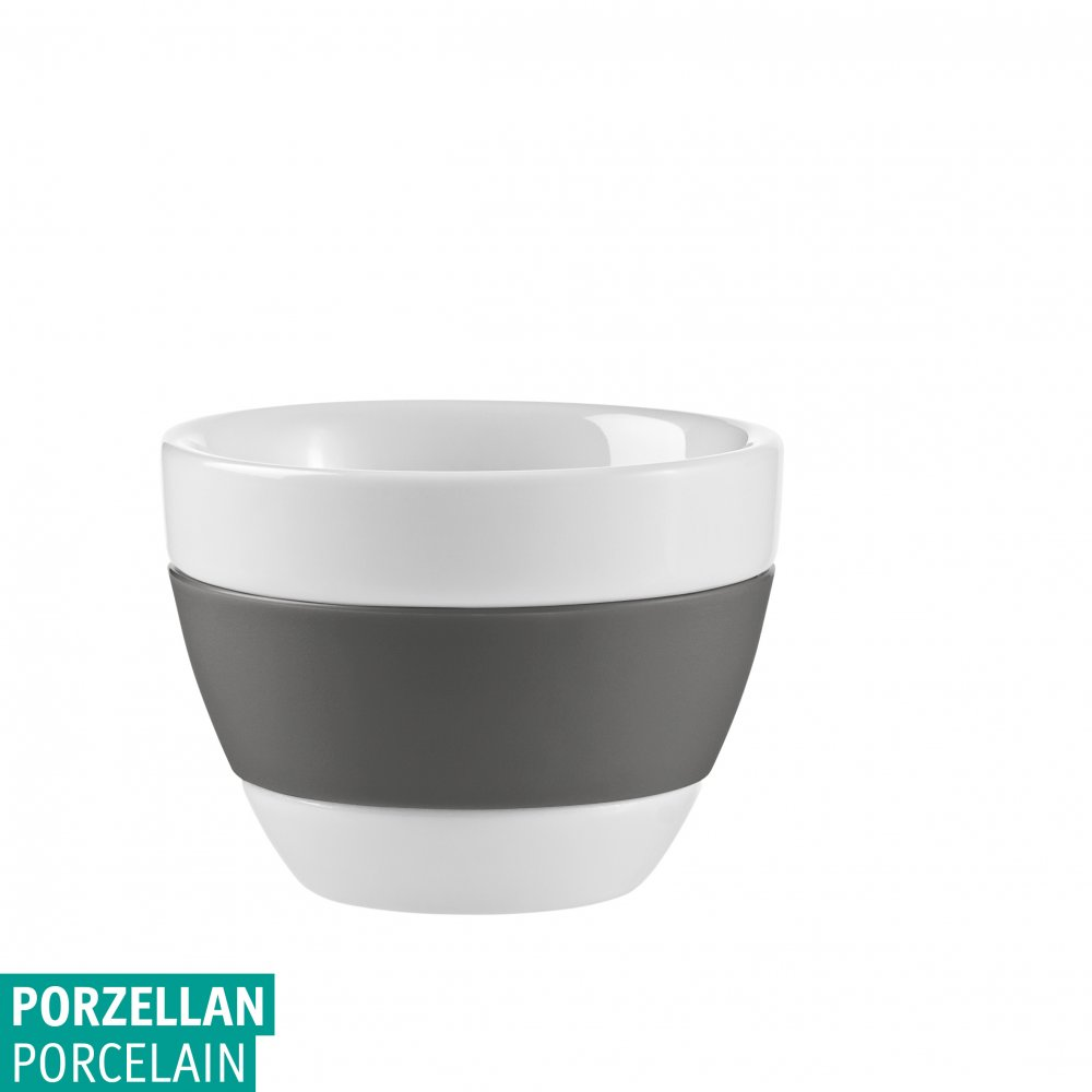 AROMA Espresso Cup 40ml cotton white-deep grey