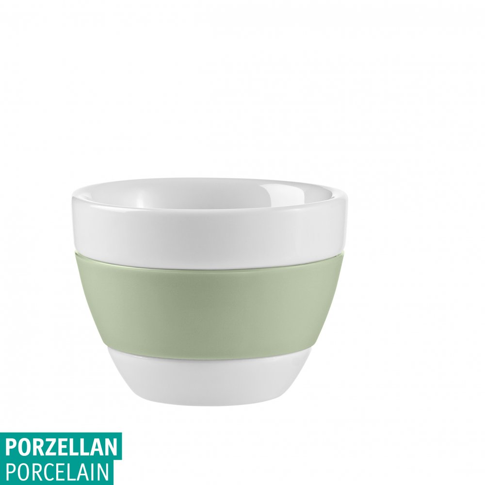 AROMA Espresso Cup 40ml cotton white-eucalyptus green