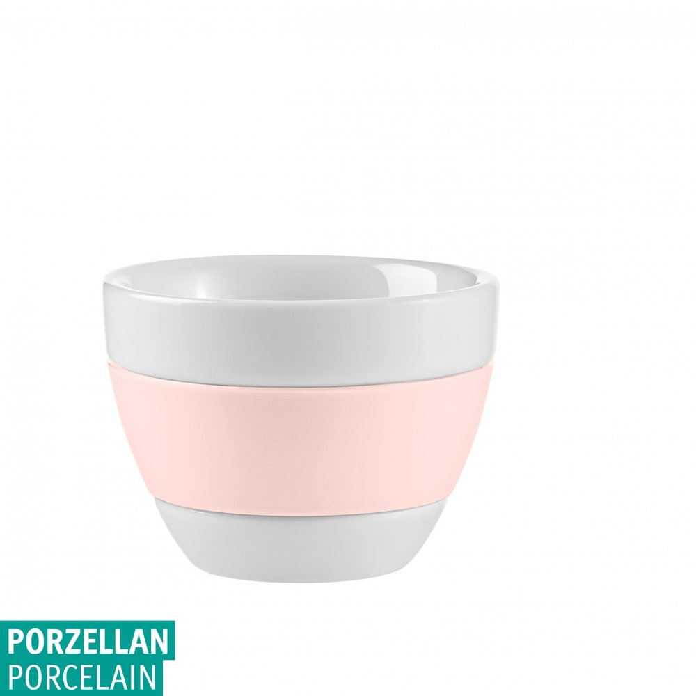 AROMA Espresso Cup 40ml cotton white-queen pink