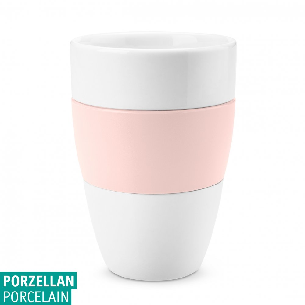 AROMA Cup 400ml cotton white-queen pink