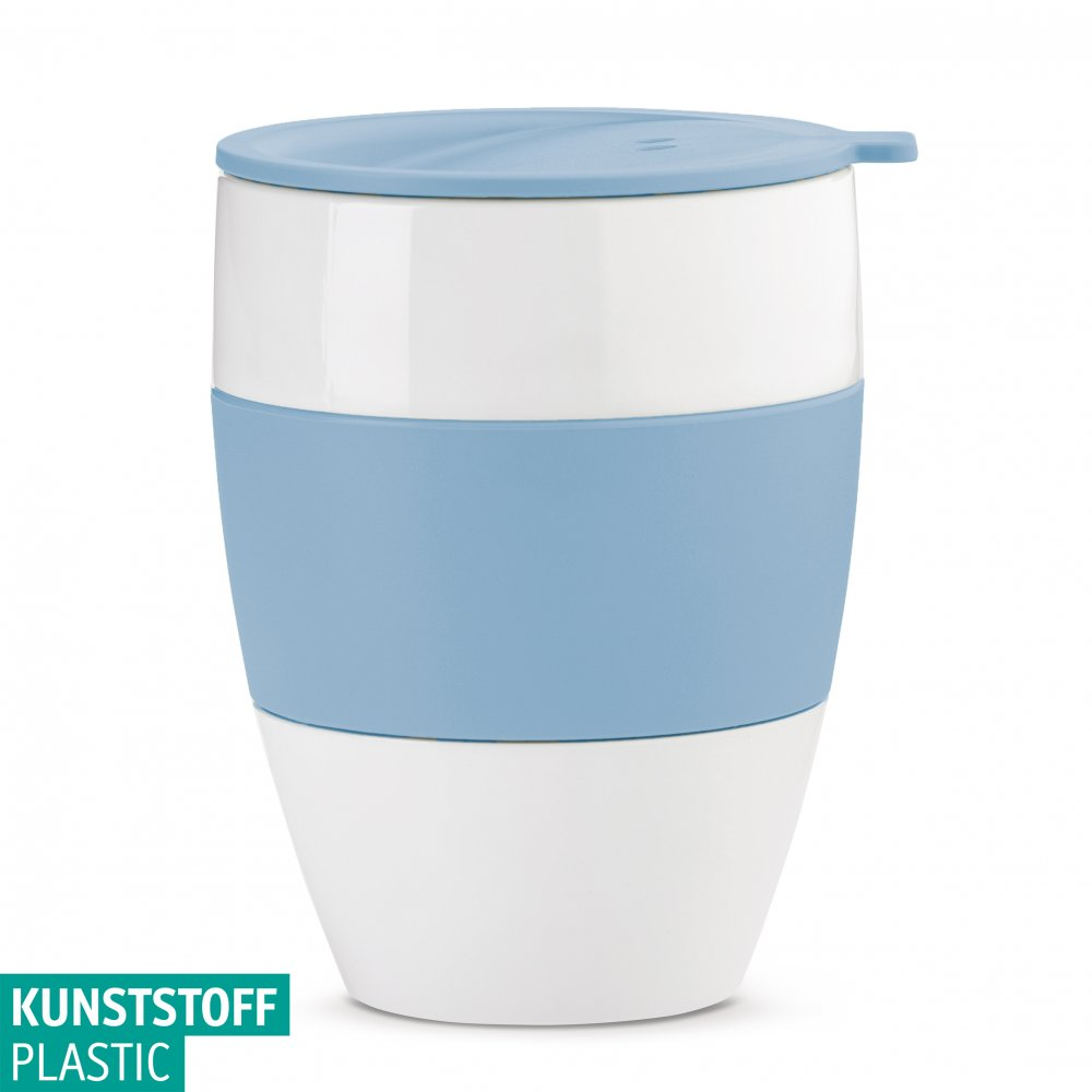 AROMA TO GO 2.0 Thermobecher m. Deckel 400ml cotton white-powder blue