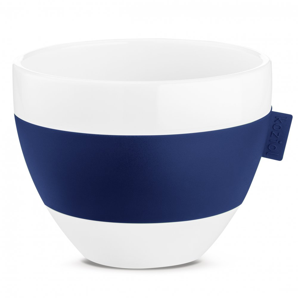 AROMA M Thermotasse 270ml cotton white-deep velvet blue