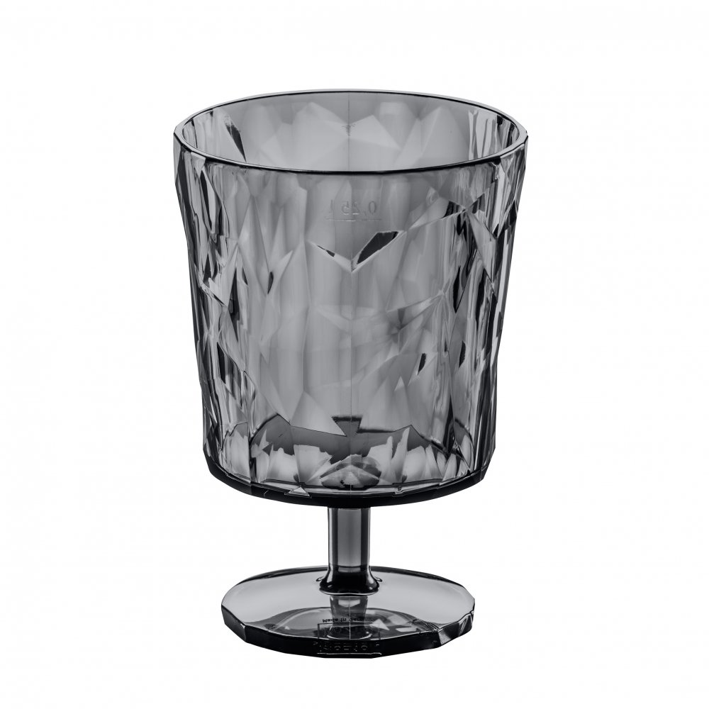 CLUB S Glas 250ml transparent grey