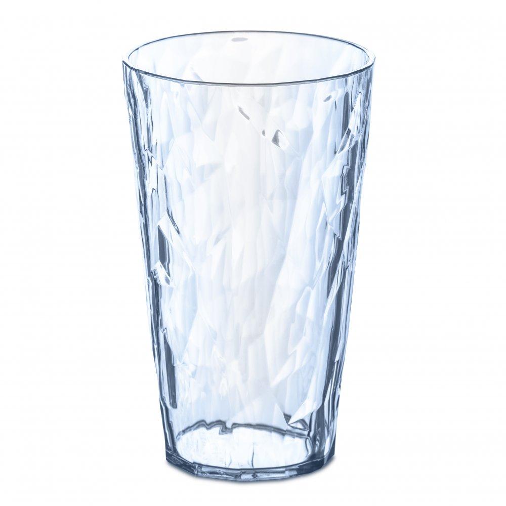 CLUB L Glass 400ml transparent aquamarine