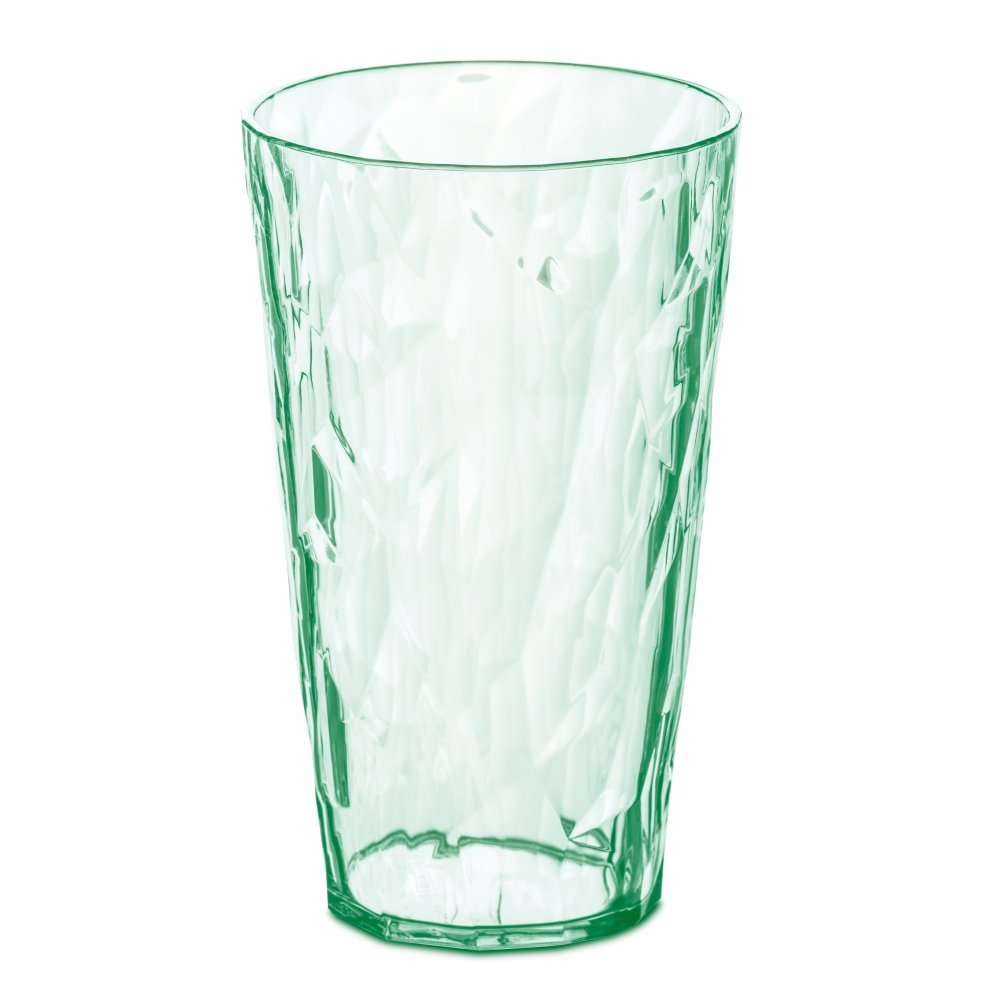 CLUB L Glas 400ml transparent jade