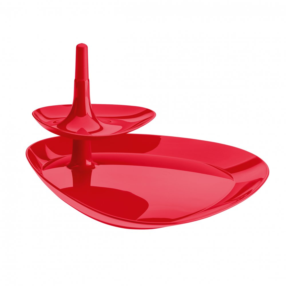 BETTY TRAY Snack Tray raspberry red