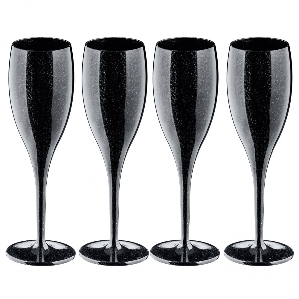 CHEERS NO. 1 Glass 100ml Set of 4 cosmos black