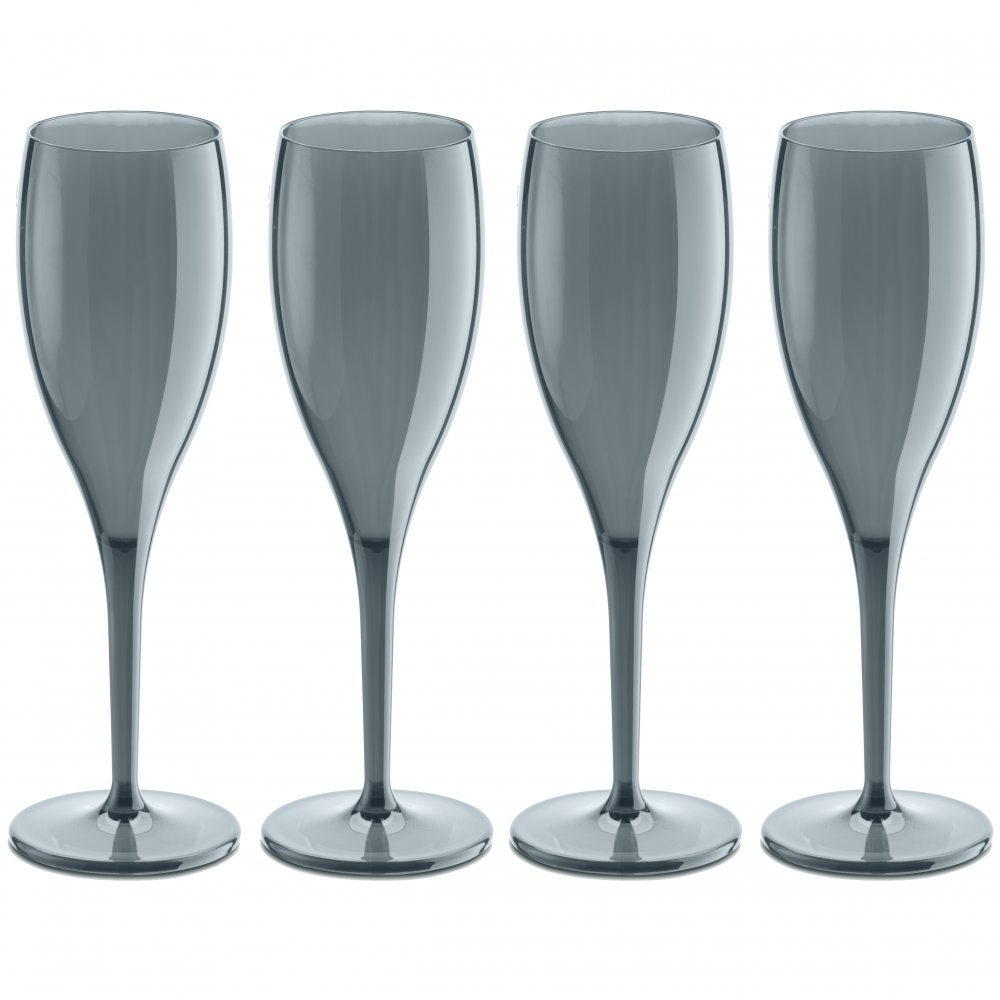 CHEERS NO. 1 Glass 100ml Set of 4 transparent grey