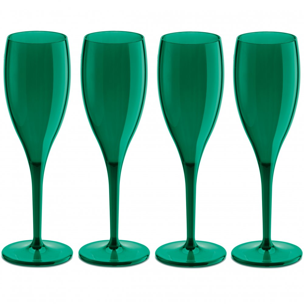 CHEERS NO. 1 Superglas 100ml 4er-Set transparent emerald green