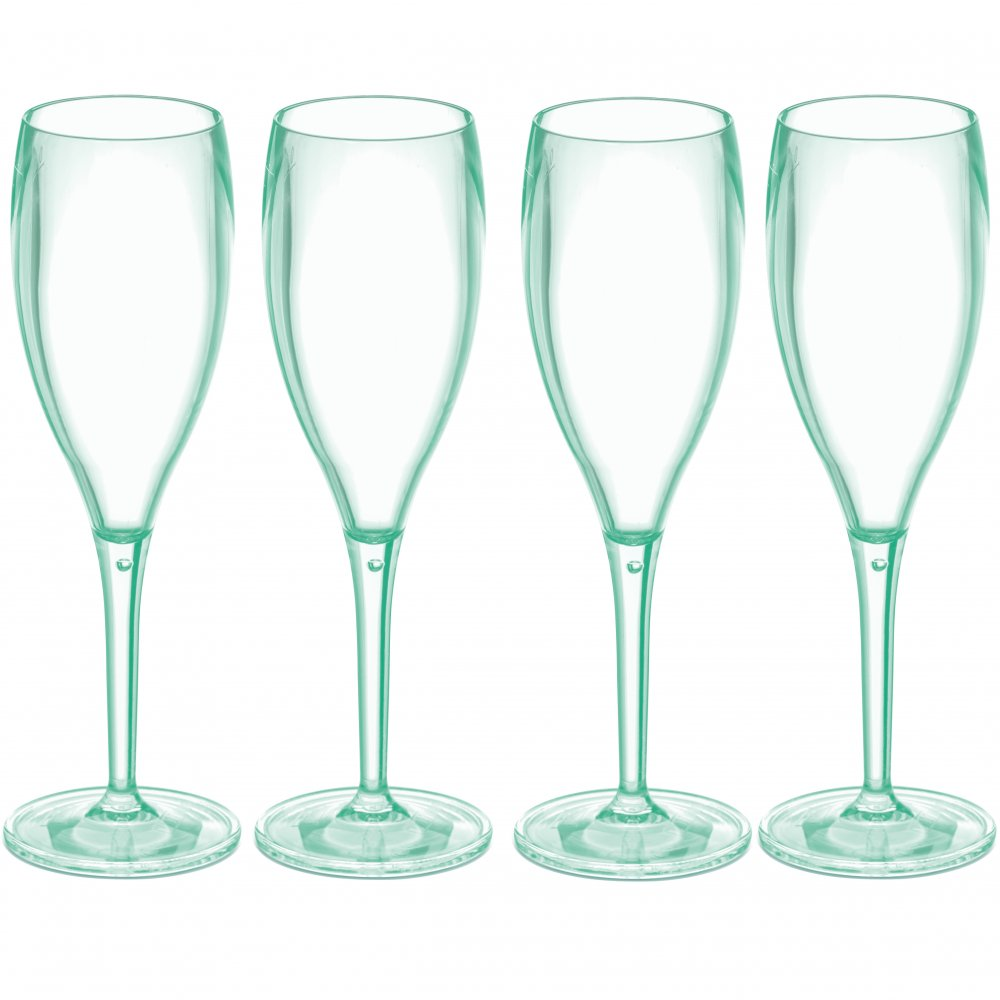 CHEERS NO. 1 Superglas 100ml 4er-Set transparent jade