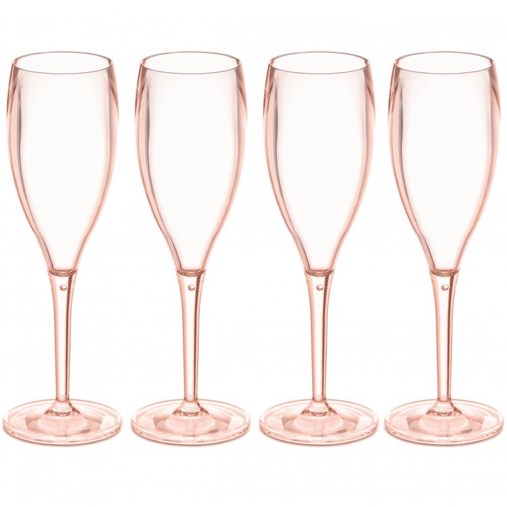 CHEERS NO. 1 Superglas 100ml Set of 4 transparent rose quartz