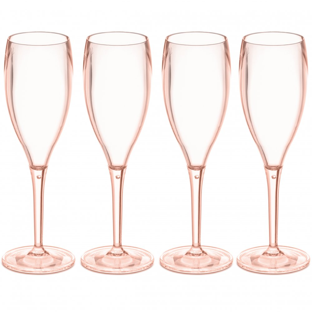 CHEERS NO. 1 Superglas 100ml 4er-Set transparent rose quartz