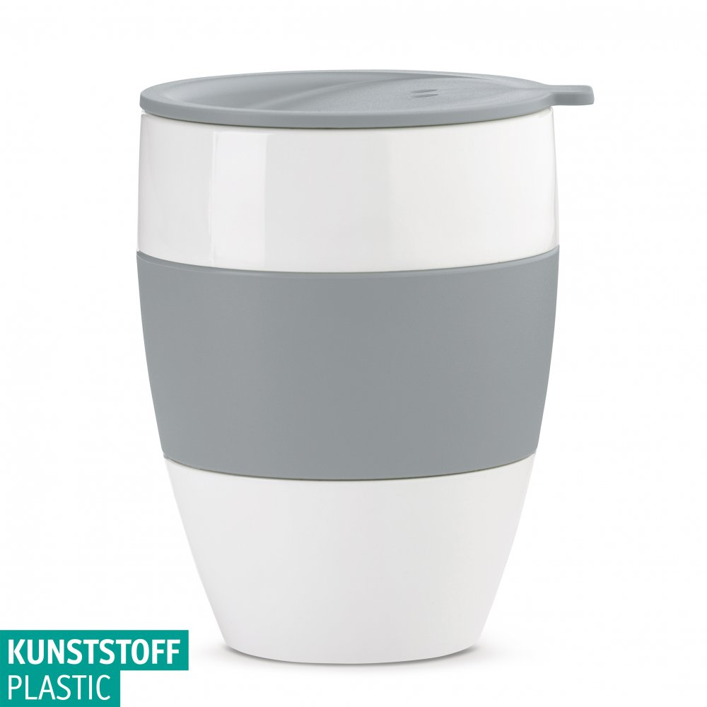 AROMA TO GO 2.0 Insulated Cup w. lid 400ml cotton white-cool grey