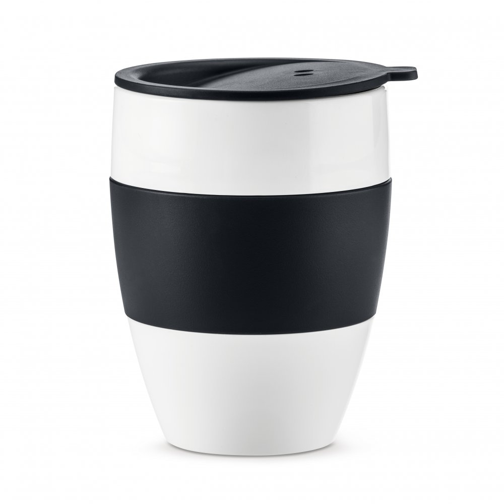 AROMA TO GO 2.0 Insulated Cup w. lid 400ml cotton white-cosmos black
