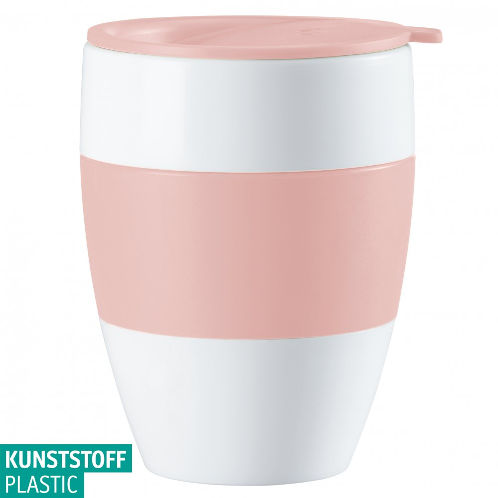 AROMA TO GO 2.0 Insulated Cup w. lid 400ml cotton white-powder pink
