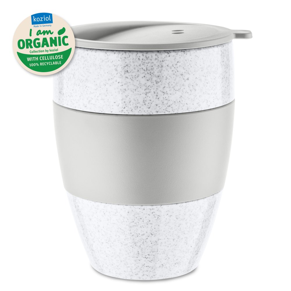 AROMA TO GO 2.0 Insulated Cup w. lid 400ml organic grey