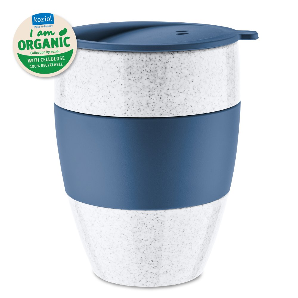 AROMA TO GO 2.0 Insulated Cup with lid 400ml organic deep blue