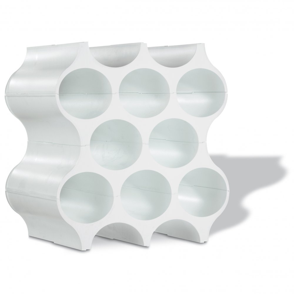 SET-UP Bottle rack cotton white