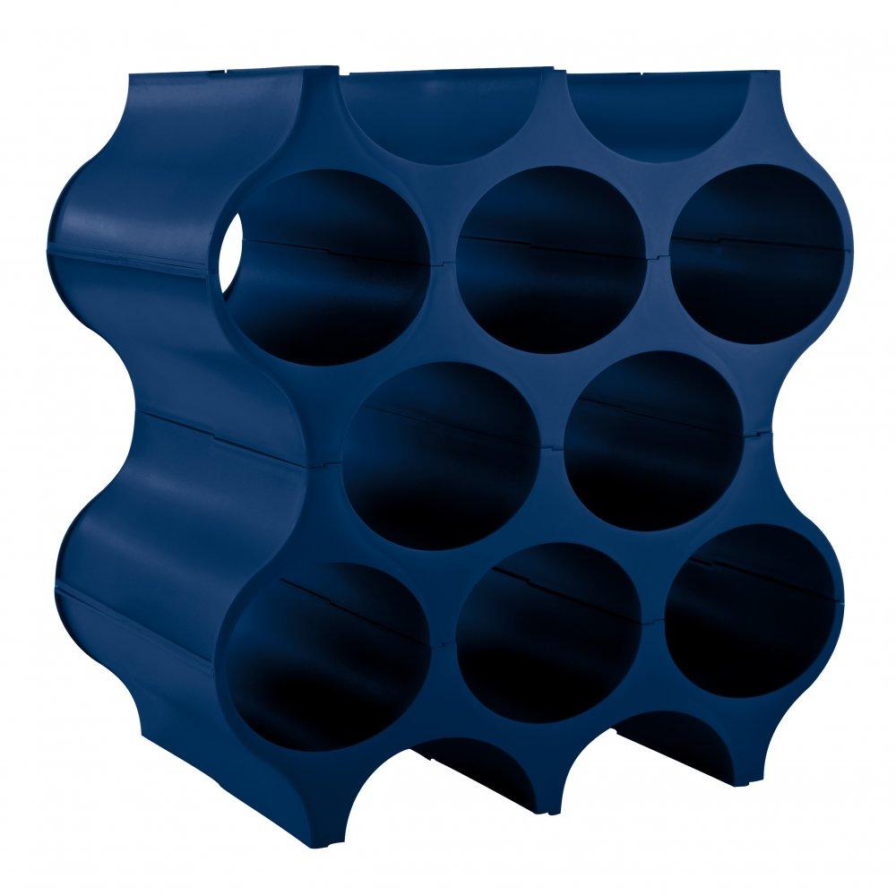 SET-UP Bottle rack deep velvet blue