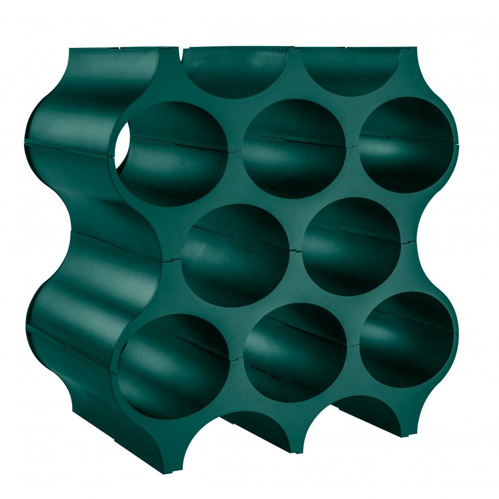 SET-UP Bottle rack emerald green