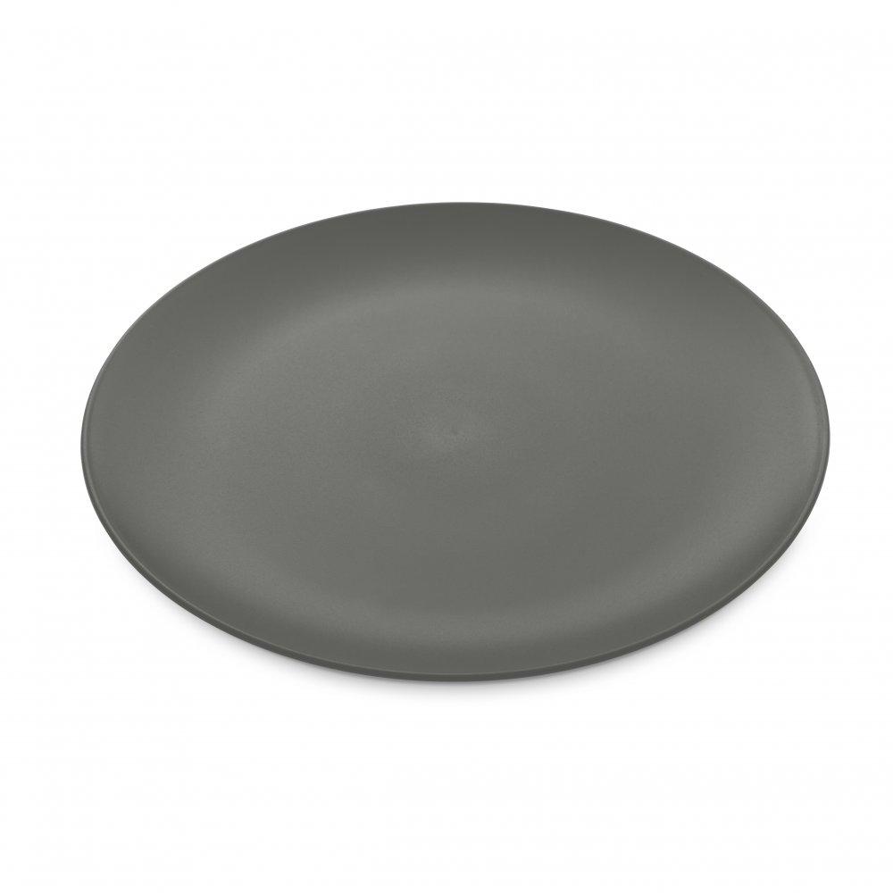 RONDO Flacher Teller deep grey