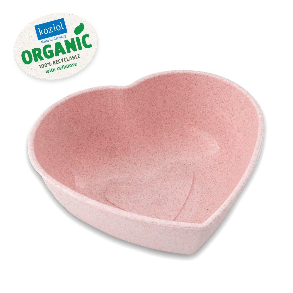 HERZ Schüssel organic pink