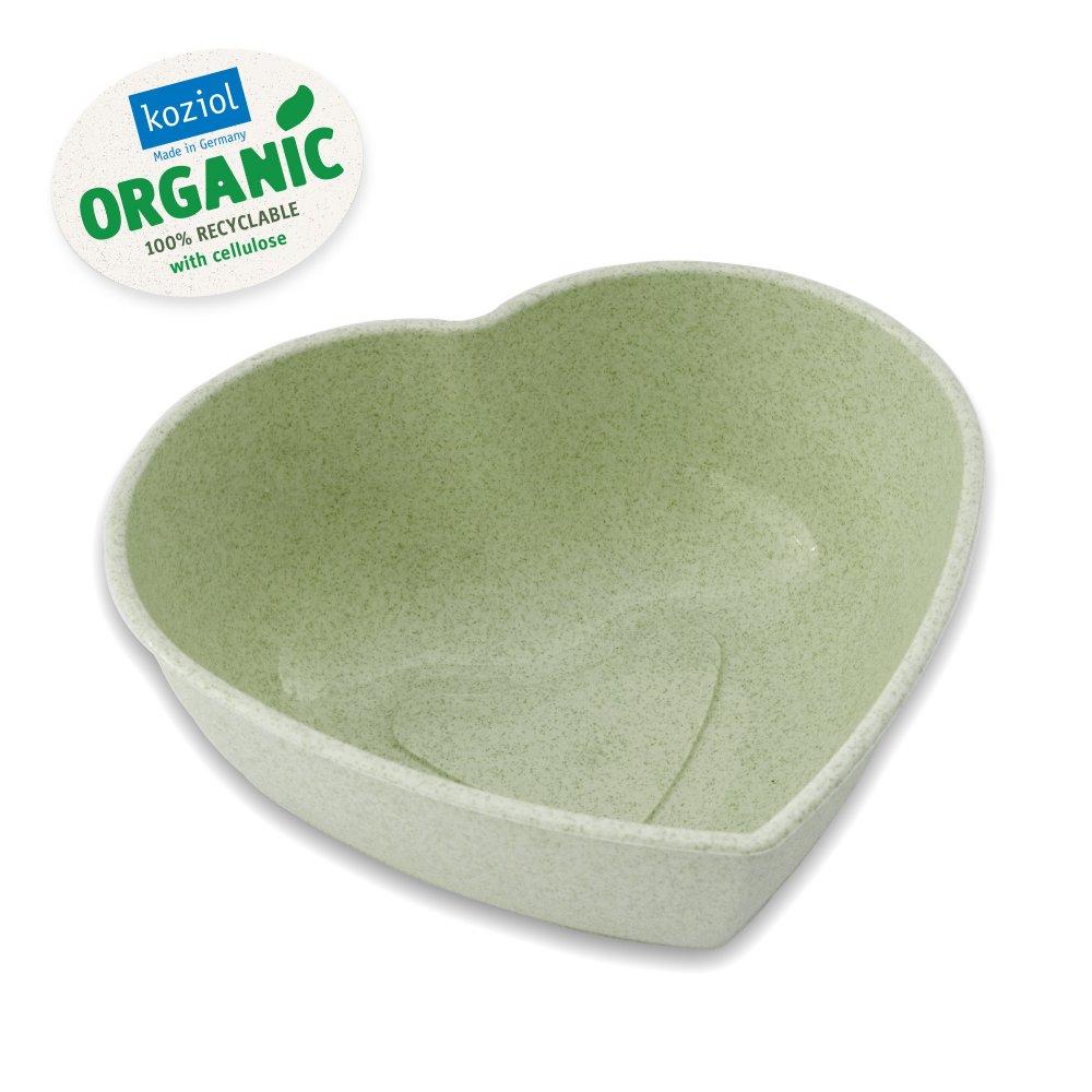 HERZ Schüssel organic green
