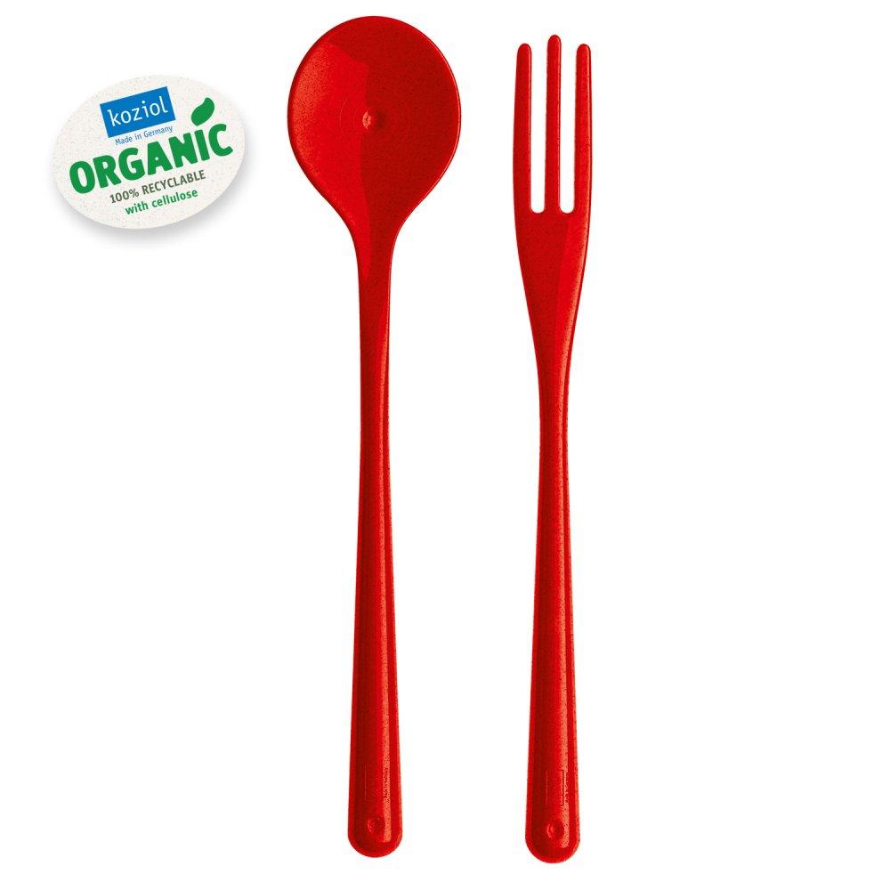 NAPOLI Organic Spaghettibesteck organic red