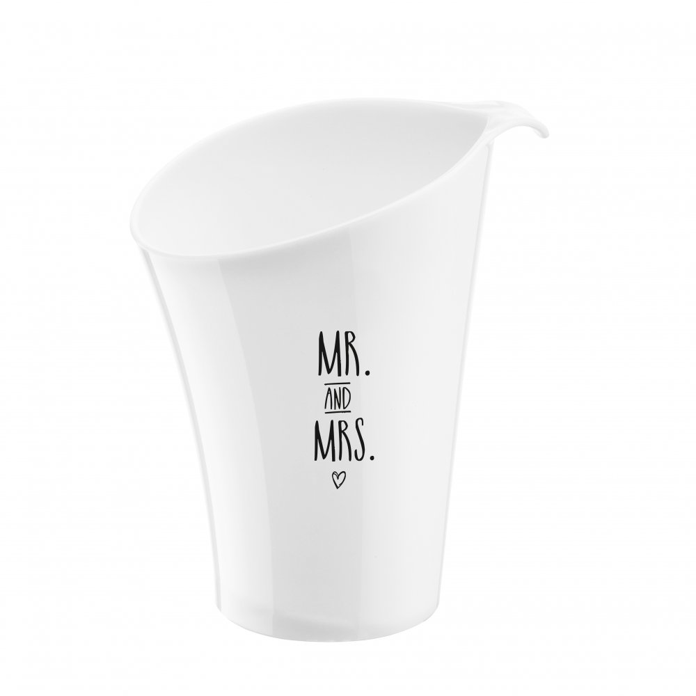 PURE MR MRS wine cooler with print cotton white