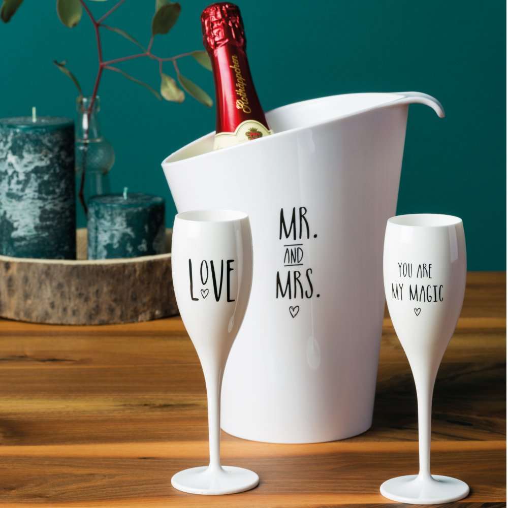 PURE MR MRS wine cooler with print