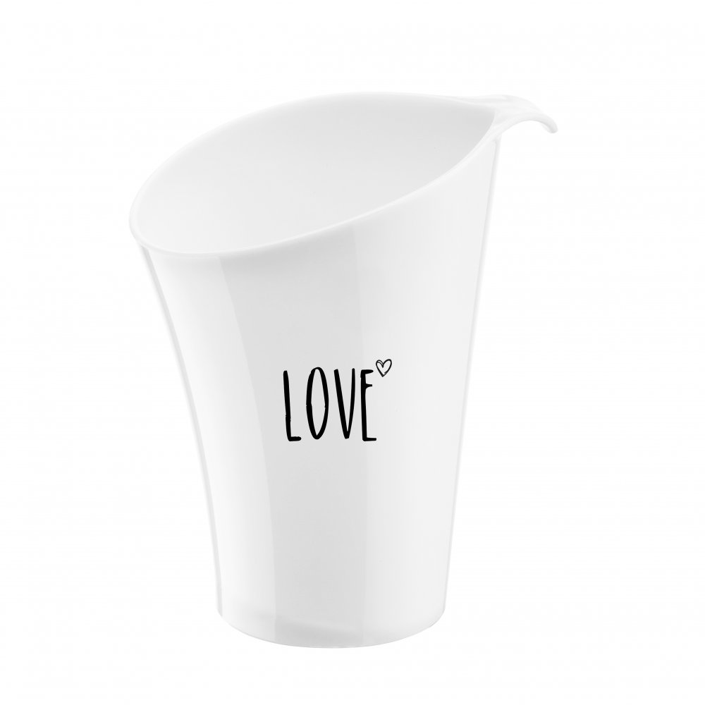 PURE LOVE wine cooler with print cotton white