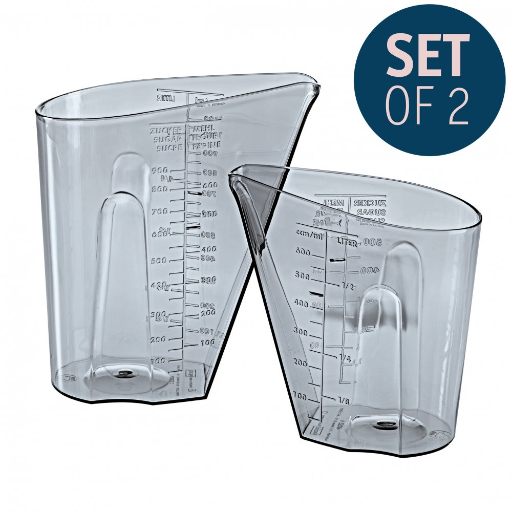 DOSIS Messbecher Set 0,5l & 1l 2er-Set transparent grey