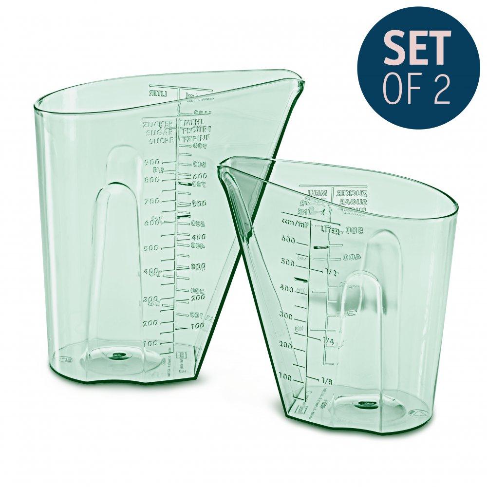 DOSIS Messbecher Set 0,5l & 1l 2er-Set transparent eucalyptus green