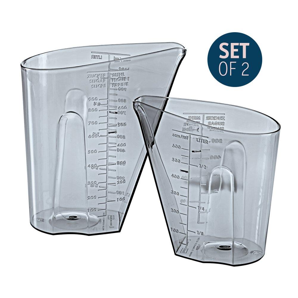 DOSIS Messbecher Set 0,5l & 1l 2er-Set transparent grey