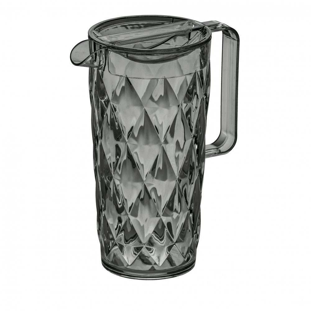CRYSTAL Pitcher 1,6l transparent grey