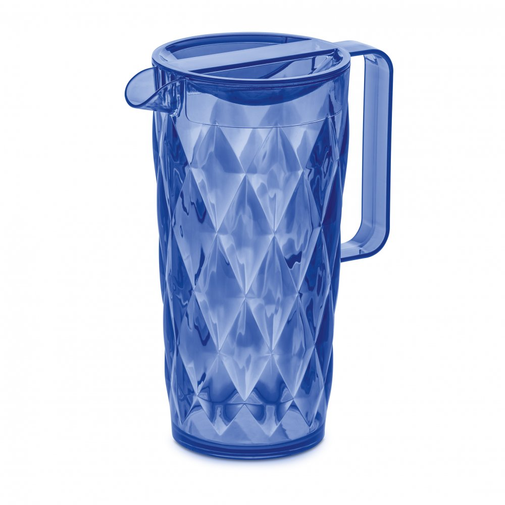 CRYSTAL Pitcher 1,6l transparent fresh blue
