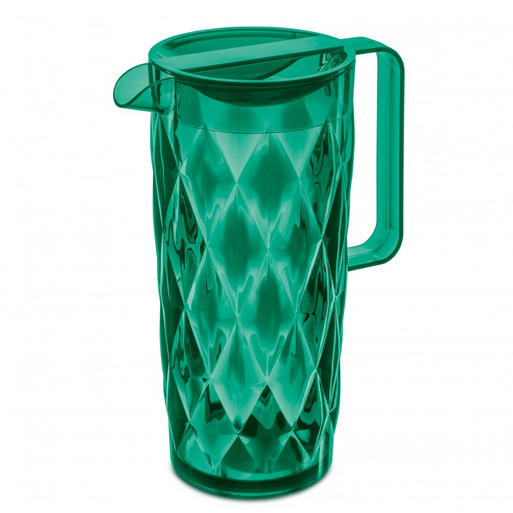 CRYSTAL Pitcher 1,6l transparent emerald green