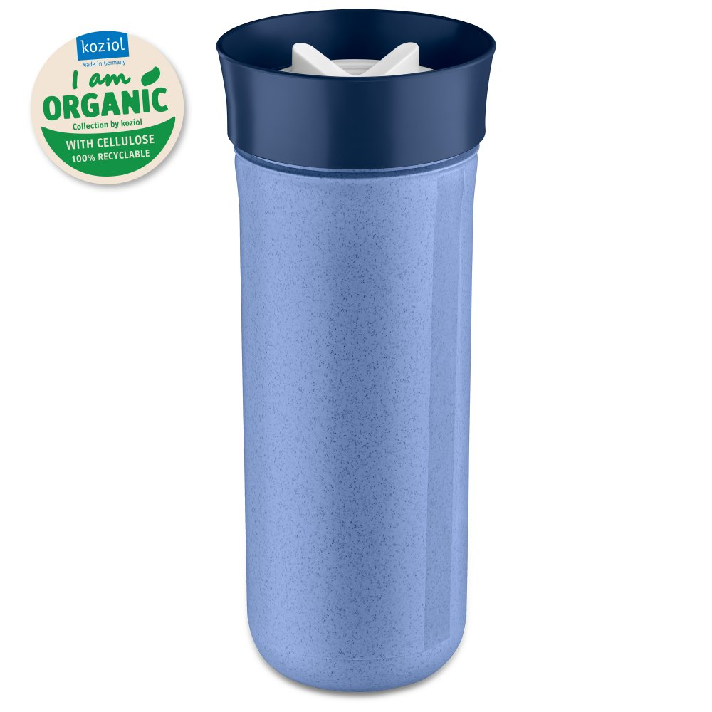 SAFE TO GO XL Organic Water Bottle 700ml organic blue