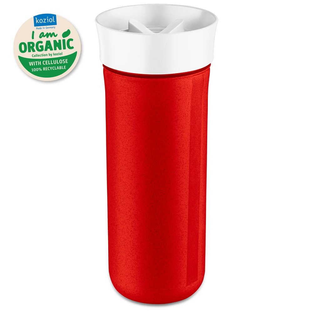 SAFE TO GO XL Water Bottle 700ml organic red