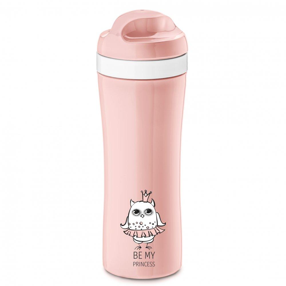 ELLI Trinkflasche 425ml mit Druck powder pink-cotton white