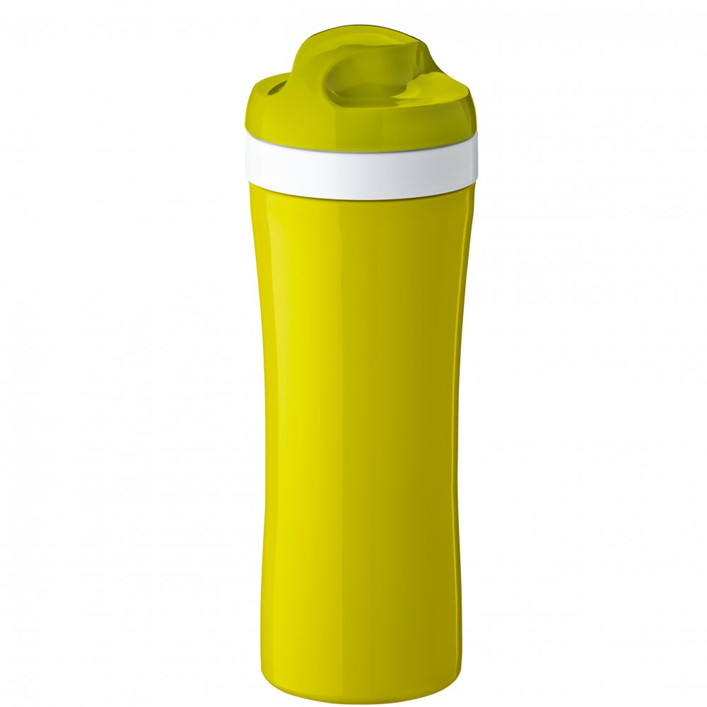 OASE Water Bottle 425ml mustard green-cotton white