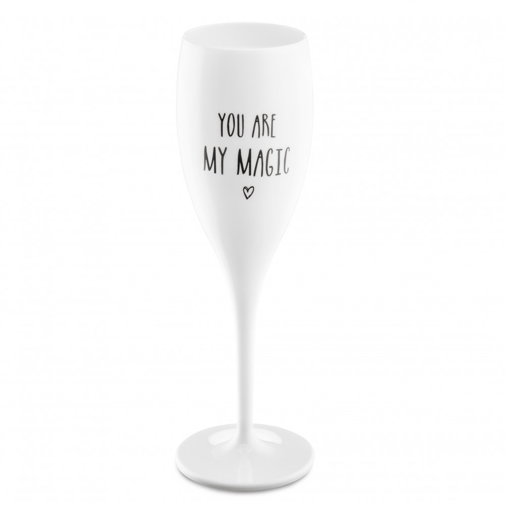 CHEERS NO. 1 YOU ARE MY MAGIC Superglas 100ml mit Druck cotton white
