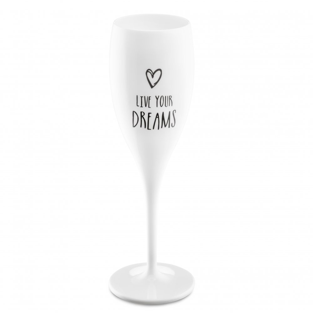CHEERS NO. 1 LIVE YOUR DREAMS Superglas 100ml mit Druck cotton white