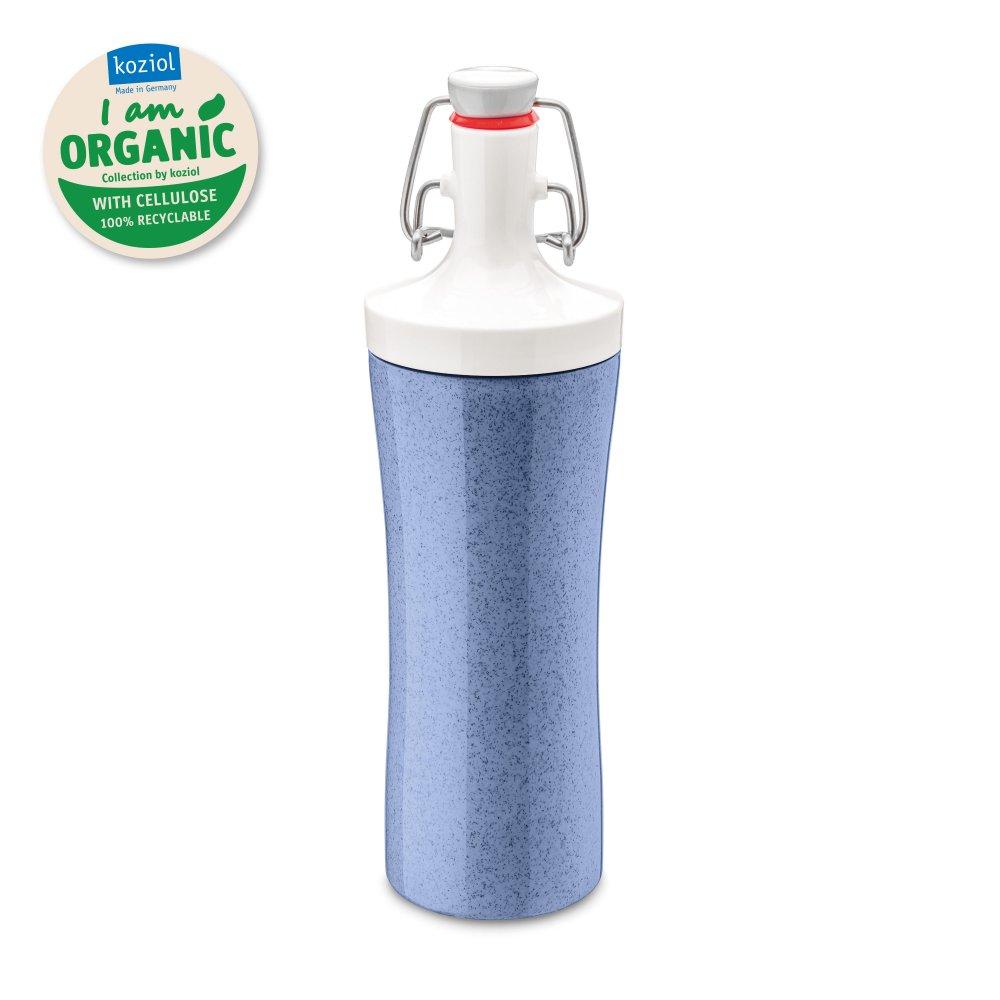 PLOPP TO GO ORGANIC Water Bottle 425ml organic blue-cotton white