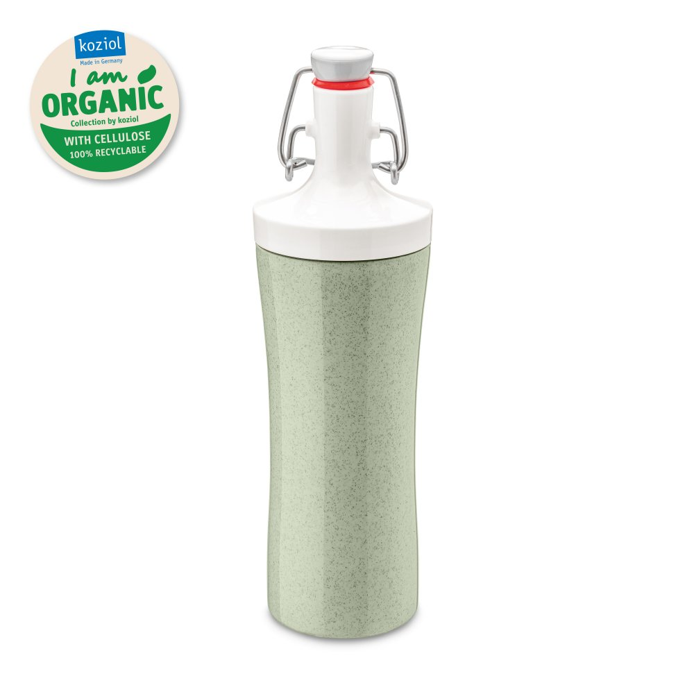 PLOPP TO GO ORGANIC Trinkflasche 425ml organic green-cotton white
