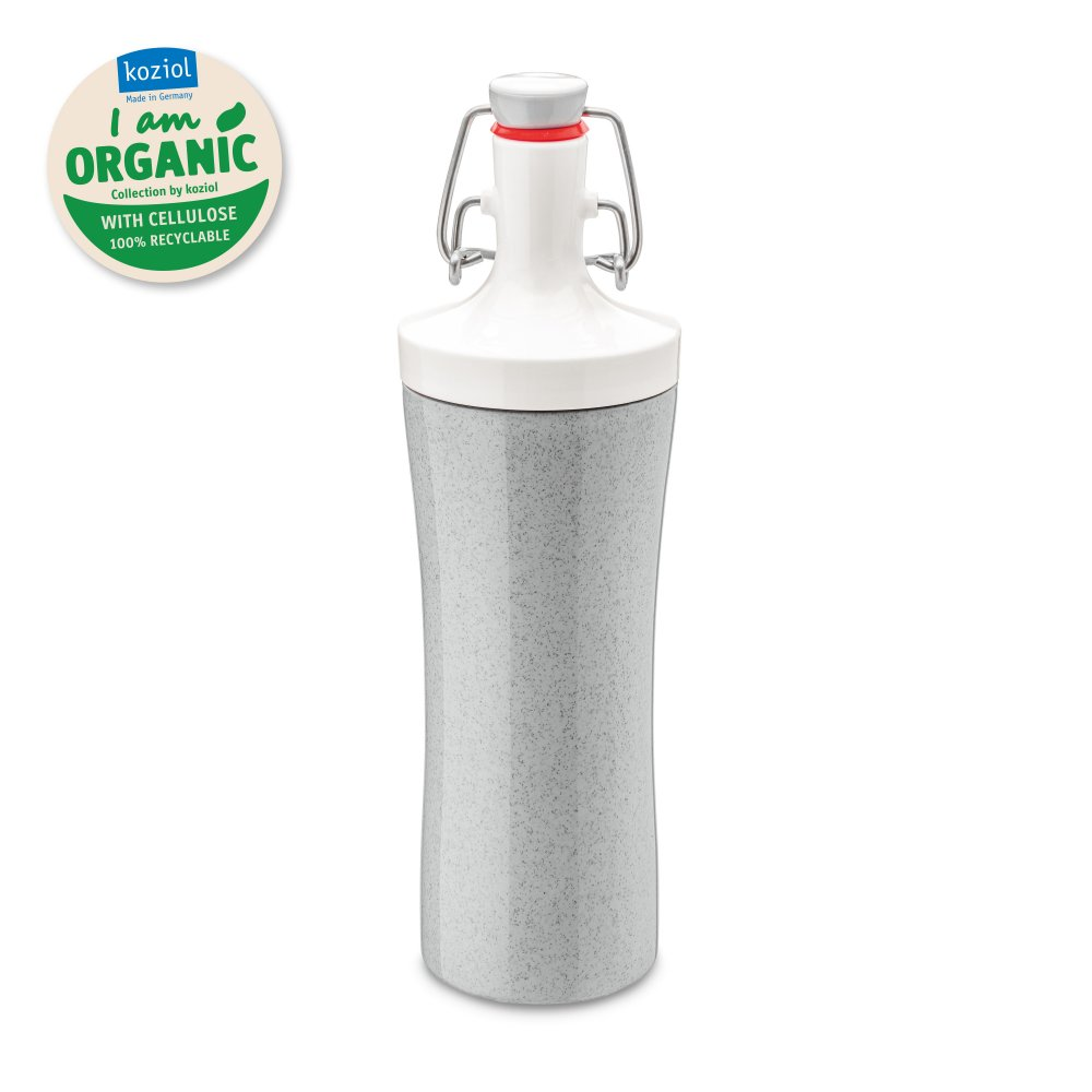 PLOPP TO GO Trinkflasche 425ml organic grey-cotton white